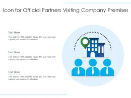 Icon For Official Partners Visiting Company Premises