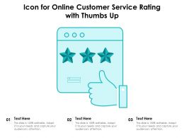 Icon For Online Customer Service Rating With Thumbs Up