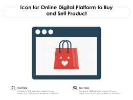 Icon For Online Digital Platform To Buy And Sell Product