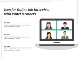 Icon For Online Job Interview With Panel Members