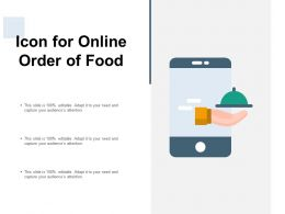 Icon For Online Order Of Food