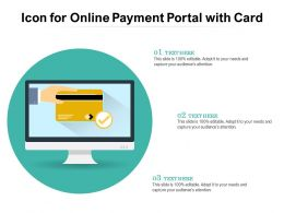 Icon For Online Payment Portal With Card