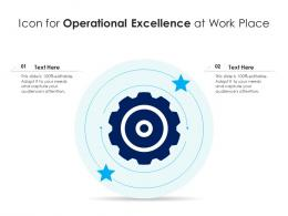 Icon For Operational Excellence At Work Place