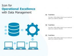 Icon For Operational Excellence With Data Management