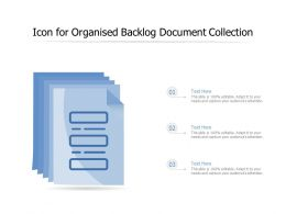 Icon For Organised Backlog Document Collection