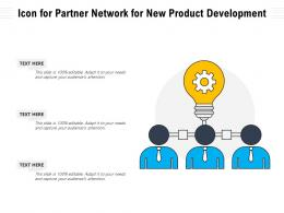 Icon For Partner Network For New Product Development