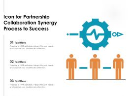 Icon For Partnership Collaboration Synergy Process To Success