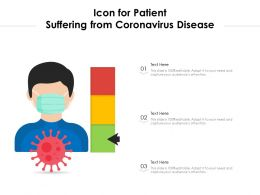 Icon For Patient Suffering From Coronavirus Disease