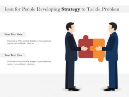 Icon For People Developing Strategy To Tackle Problem