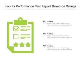 Icon For Performance Test Report Based On Ratings