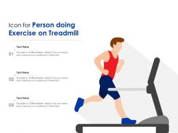 Icon For Person Doing Exercise On Treadmill