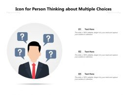 Icon For Person Thinking About Multiple Choices