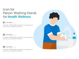 Icon For Person Washing Hands For Health Wellness