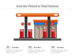 Icon For Petrol Or Fuel Station