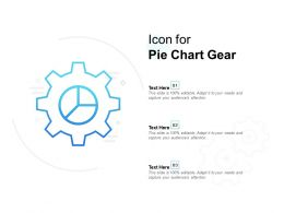 Icon For Pie Chart Gear