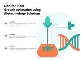 Icon For Plant Growth Estimation Using Biotechnology Solutions