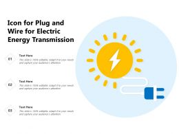 Icon For Plug And Wire For Electric Energy Transmission
