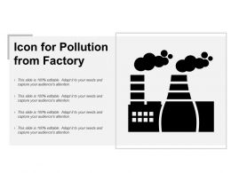 Icon For Pollution From Factory