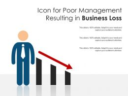Icon For Poor Management Resulting In Business Loss