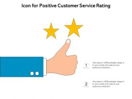Icon For Positive Customer Service Rating