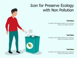 Icon For Preserve Ecology With Non Pollution