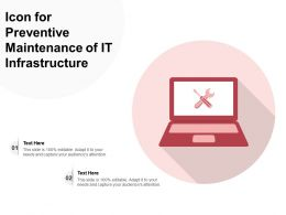 Icon For Preventive Maintenance Of IT Infrastructure