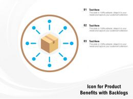 Icon For Product Benefits With Backlogs