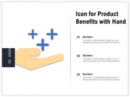 Icon For Product Benefits With Hand