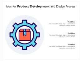 Icon For Product Development And Design Process