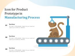 Icon For Product Prototype In Manufacturing Process