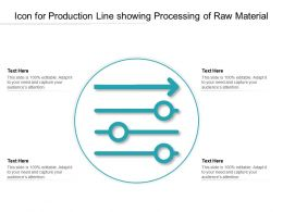 Icon For Production Line Showing Processing Of Raw Material