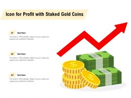 Icon For Profit With Staked Gold Coins