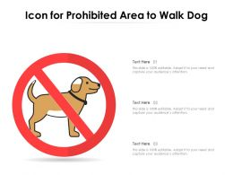 Icon For Prohibited Area To Walk Dog