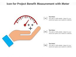 Icon For Project Benefit Measurement With Meter