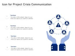 Icon For Project Crisis Communication