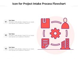 Icon For Project Intake Process Flowchart