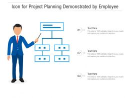 Icon For Project Planning Demonstrated By Employee