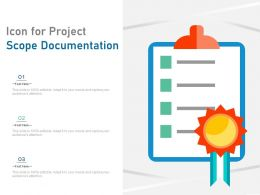Icon For Project Scope Documentation