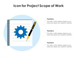 Icon For Project Scope Of Work