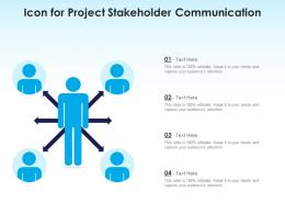 Icon For Project Stakeholder Communication