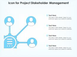 Icon For Project Stakeholder Management