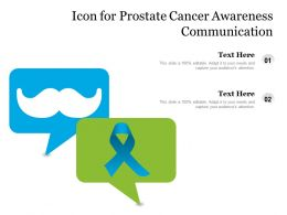 Icon For Prostate Cancer Awareness Communication