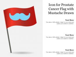 Icon For Prostate Cancer Flag With Mustache Drawn
