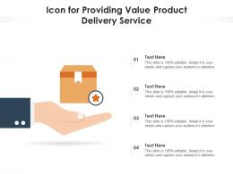 Icon For Providing Value Product Delivery Service
