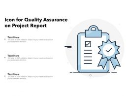 Icon For Quality Assurance On Project Report
