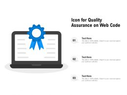 Icon For Quality Assurance On Web Code