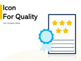 Icon For Quality Business Exceptional Process Performing Service Certificate