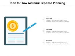 Icon For Raw Material Expense Planning