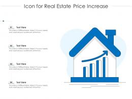 Icon For Real Estate Price Increase