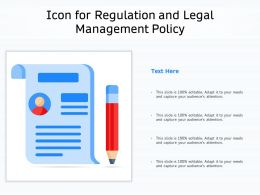 Icon For Regulation And Legal Management Policy